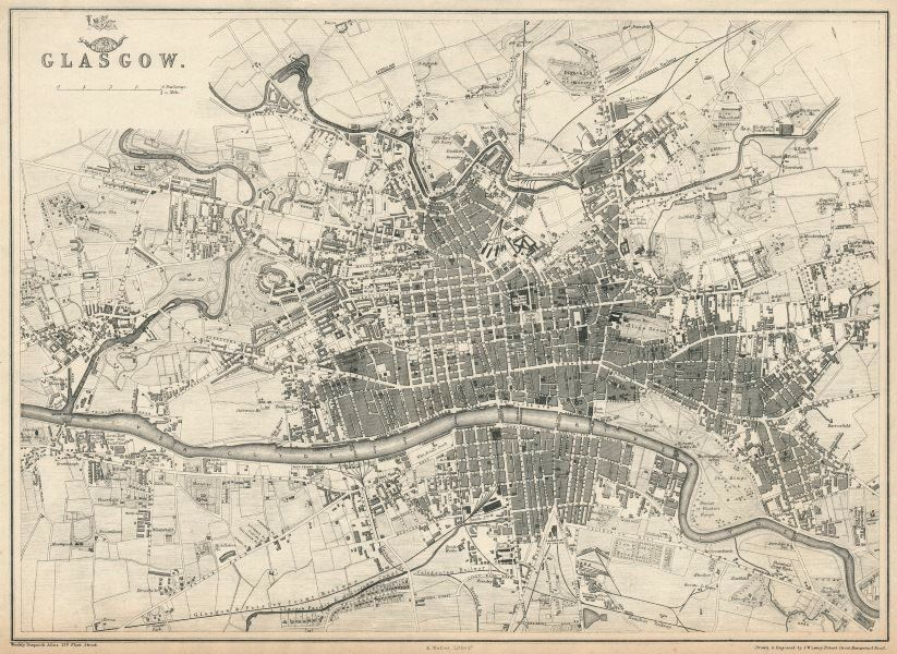 Antique maps by Weller Dower Ettling Davies Lowry et al from