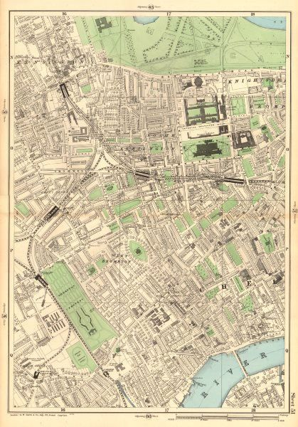 New stock Largescale maps of London by George Bacon 1903