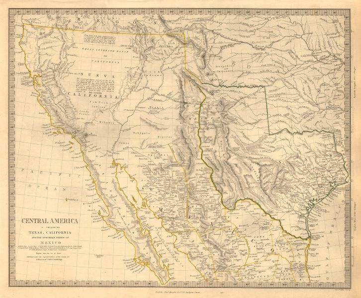 SOUTH WESTERN USA Showing Republic of Texas  Mexican California